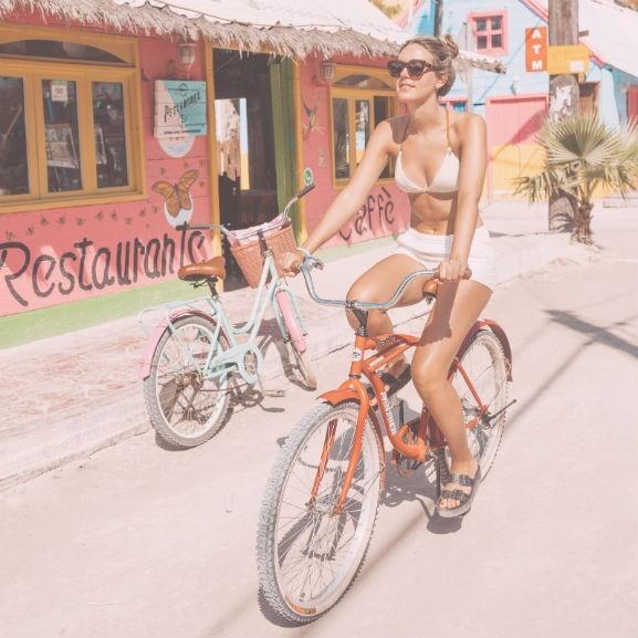 napozas, bicikli