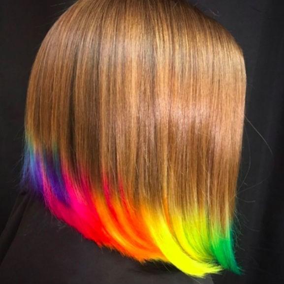 neon hajszín