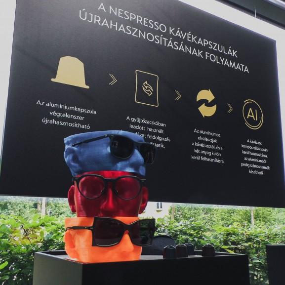 nespresso tripton kávé kapszula újrahasznosítás napszemüveg