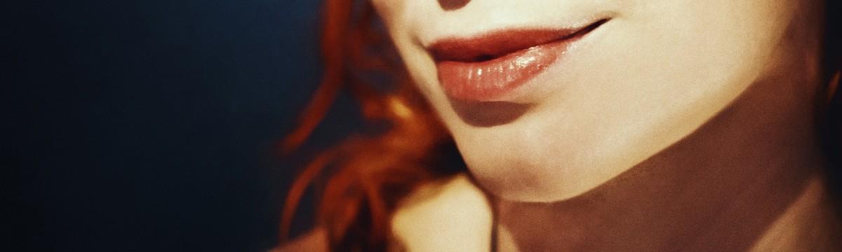 nő lány száj