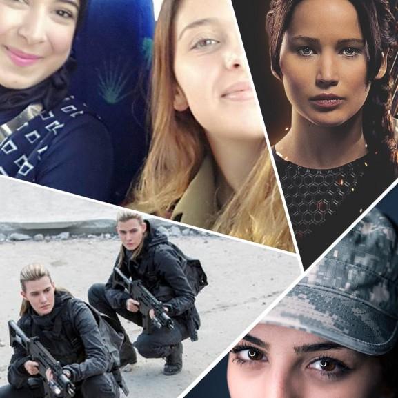 női katonák