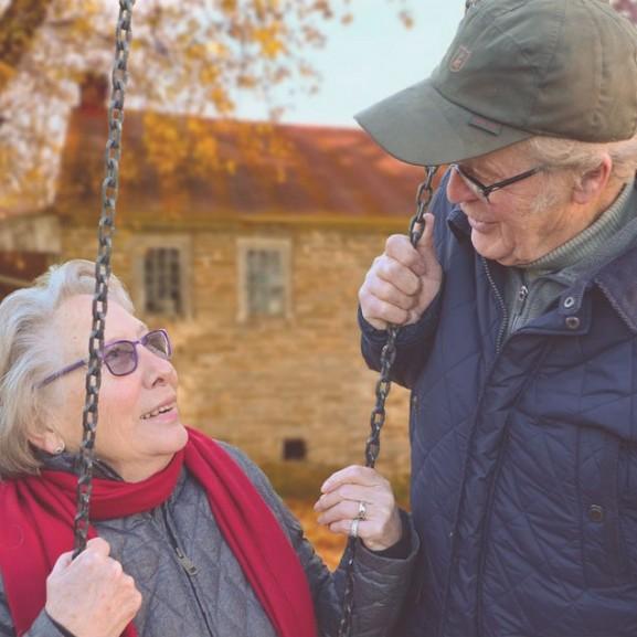 öreg pár idős szerelem