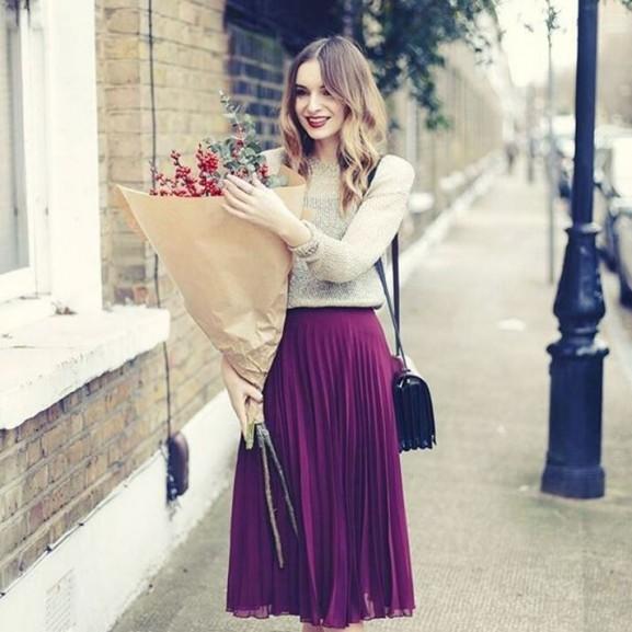 outfit ősz szoknya