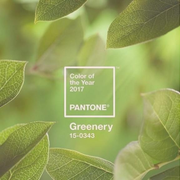 pantone greenery zöld