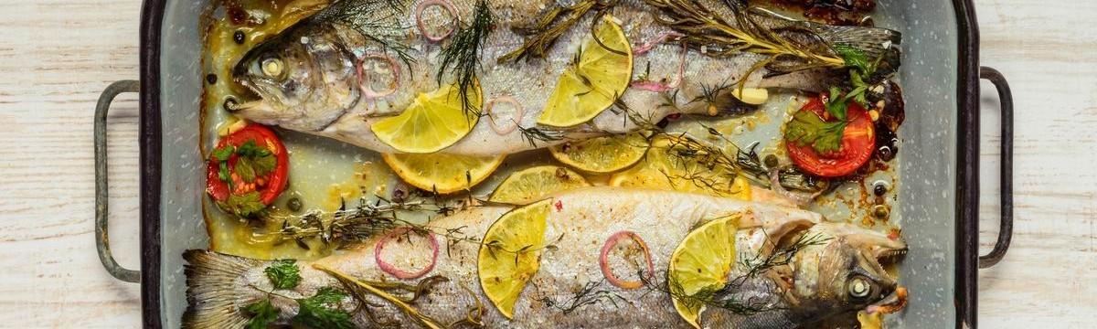 Pisztráng citrom zöldfűszer