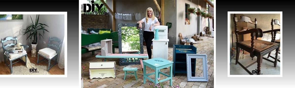 Próbáljátok ki a DIY csúcsát, a kreatív bútorfestést