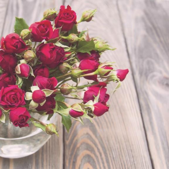 rózsa csokor virág