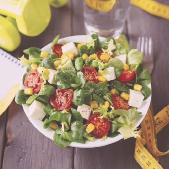 saláta fogyás étel kaja