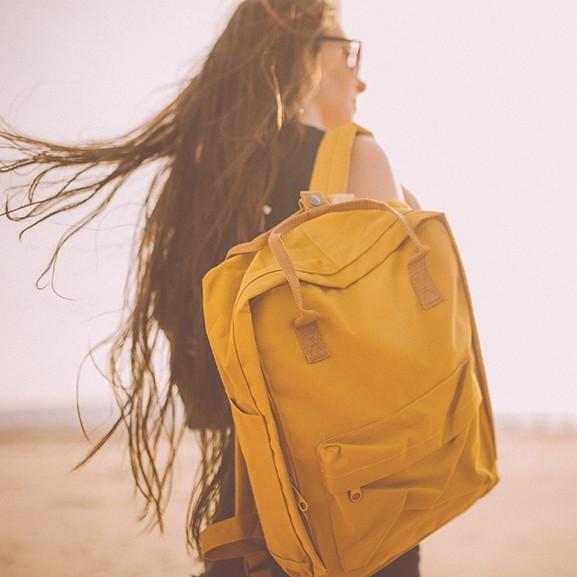 sárga hátizsák