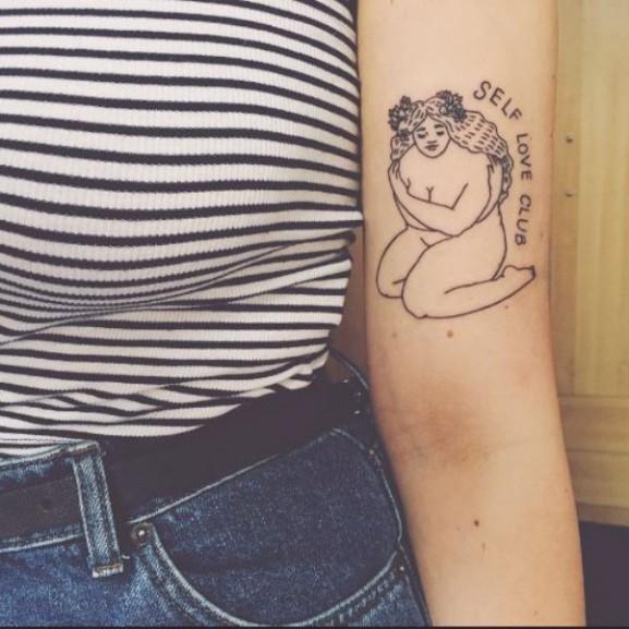 self love club, tetoválás
