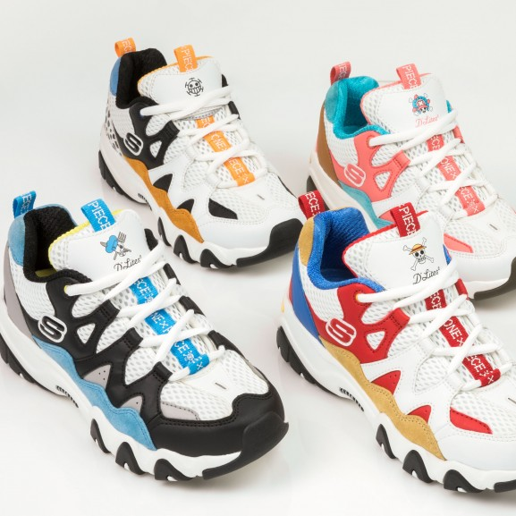 Skechers D'Lites x One Piece Collection_Cropped