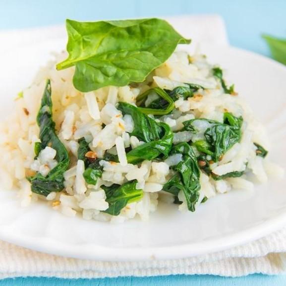 Spenótos rizs rizottó