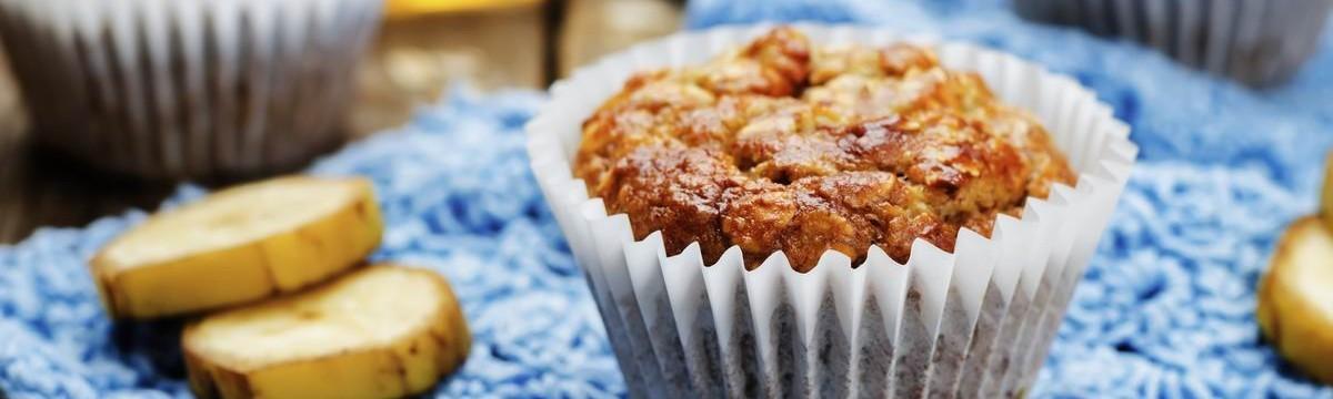 Sült zabkása banánnal  egészséges muffin pofonegyszerűen
