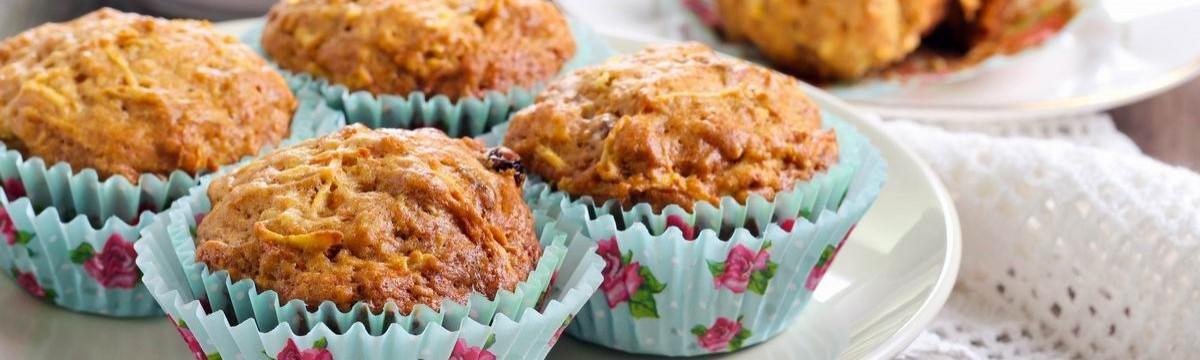 Sütireggeli egészséges almás-répás bögrés muffin