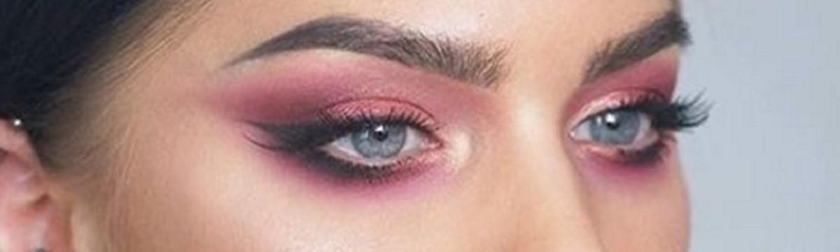 szemhéj smink rózsaszín szép trend
