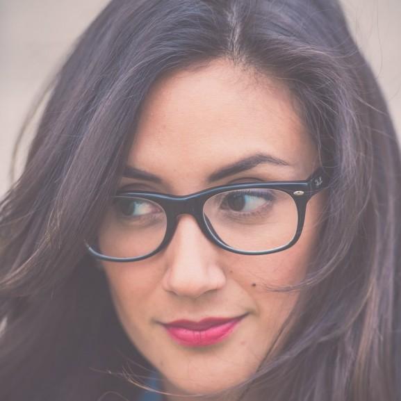 szemüveg, nő