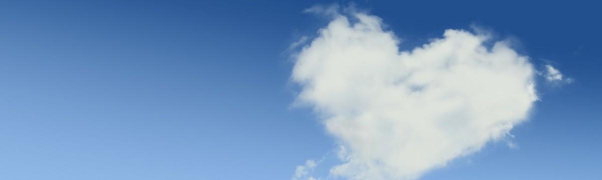 szerelem szív felhő