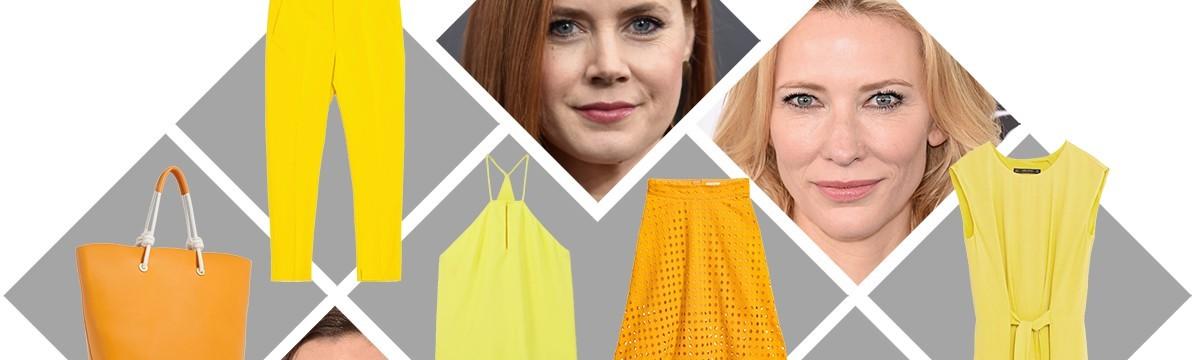színtípus sárga narancssárga citromsárga divat montázs