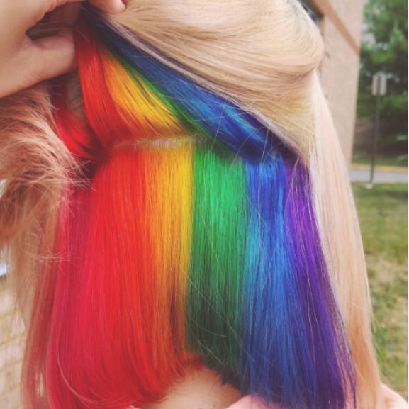 szivárvány haj