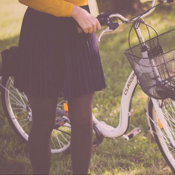 szoknya bicikli