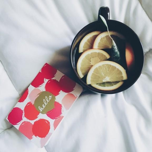 tea citrom bögre