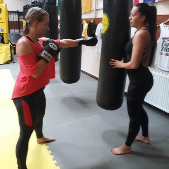 thai boksz edzés Nagy Niki