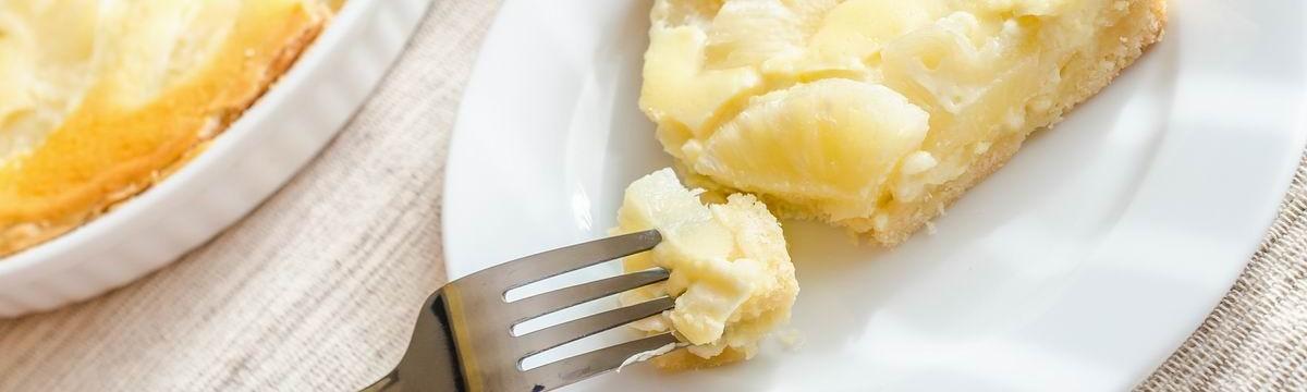 Túrós pitetorta krémesen és omlósan, ananásszal