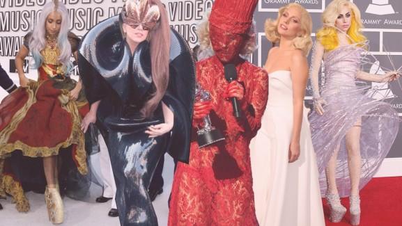 Válogatás Lady Gaga ikonikus szettjeiből.