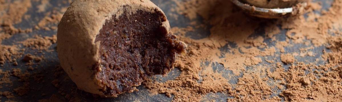 Vegán trüffelgolyó csokibonbon gasztroajándék