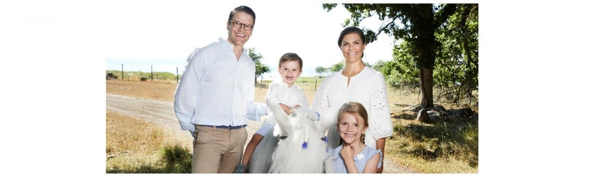 Viktória svéd hercegnő és családja