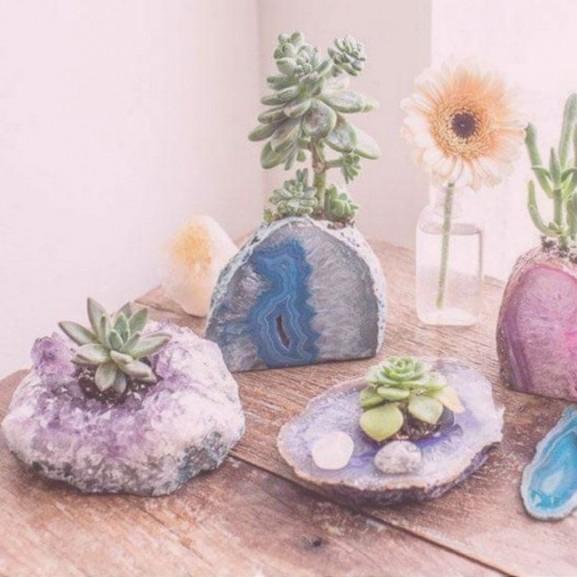 virág kert kristály