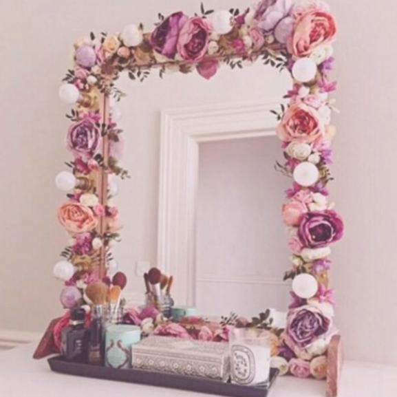 virág tükör