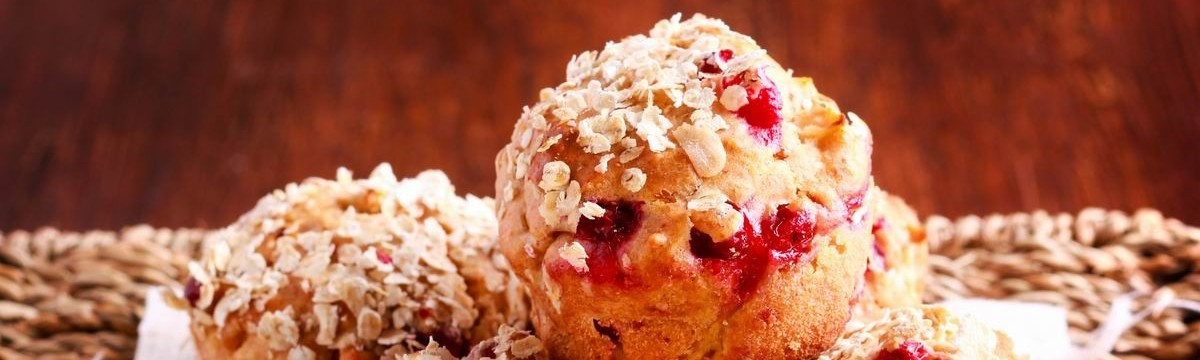 Zabpelyhes muffin bogyósokkal