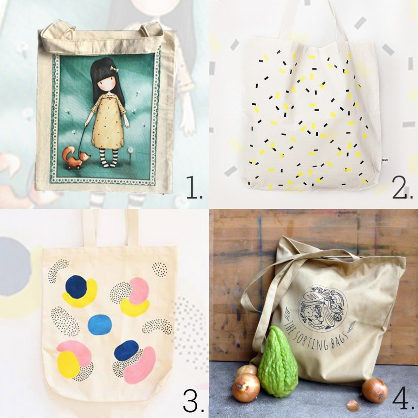 1. Cibi, 2. Printa, 3. Nändi, 4. The sorting bags