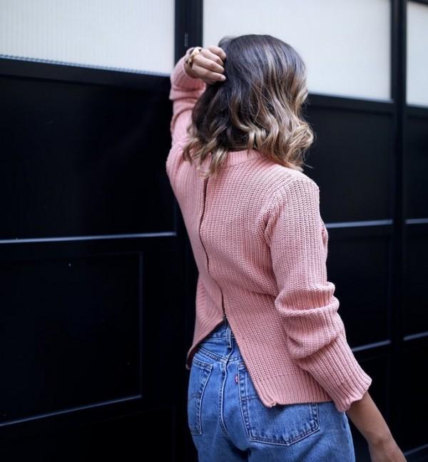 cipzár kötött pulcsi