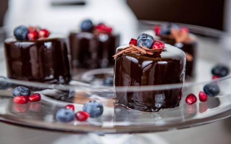 Csokimousse-desszert