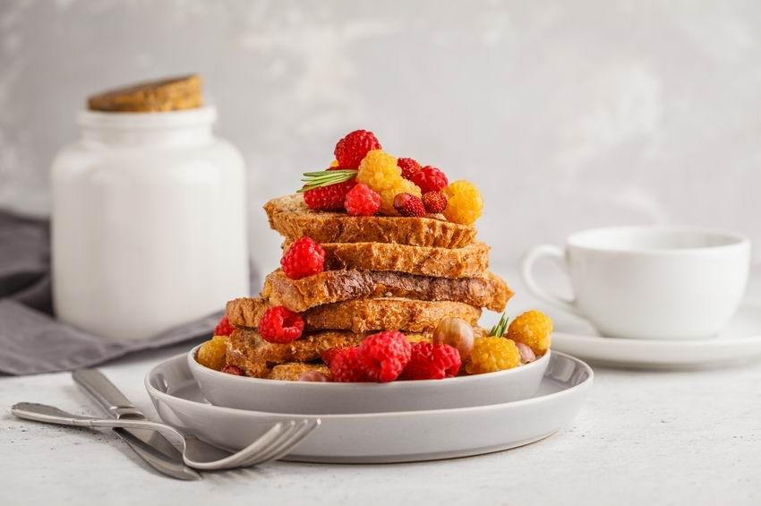 Édes bundáskenyér tojás nélkül, vegán french toast