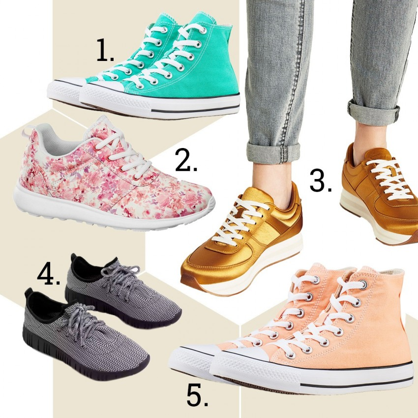 1. Converse, 2. Deichman, 3. Zara, 4. Mango, 5. Converse