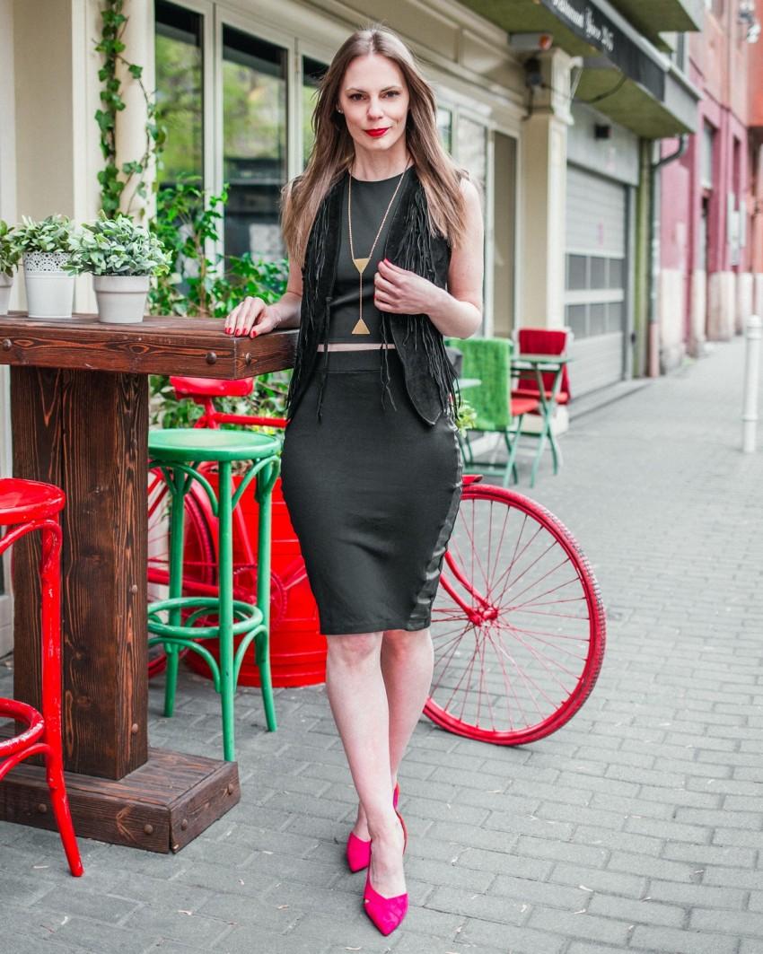 Mellény - Wild West Store, felső - Zara, szoknya - saját, cipő - Zara