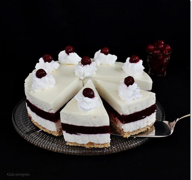 Fehér csokoládés meggytorta