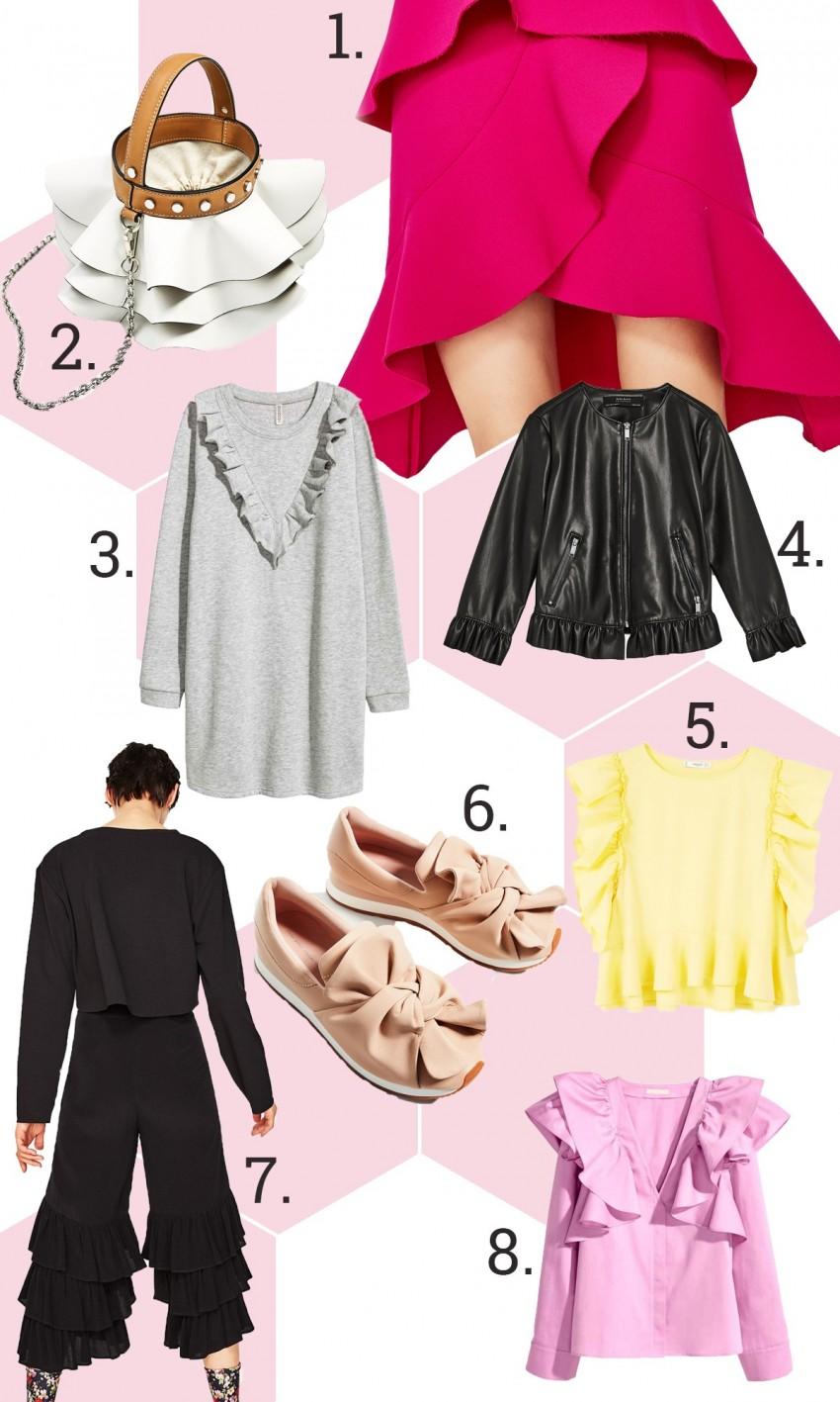 1. Zara, 2. Zara, 3. H&M, 4. Zara, 5. Mango, 6. Zara, 7. Zara, 8. H&M