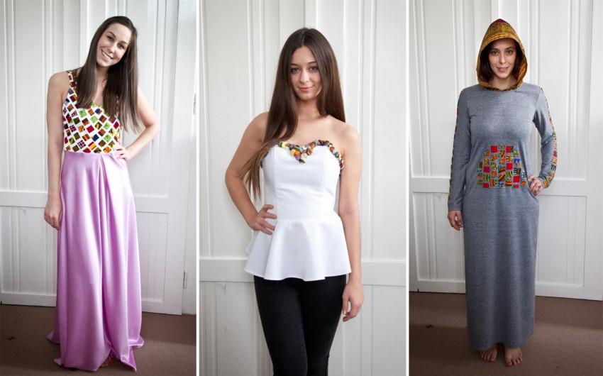 Én egy rózsaszín, királylányos ruhát, Nina egy szuper, gombokkal díszített felsőt választott, míg Sophie egy laza kapucnis ruhába bújt