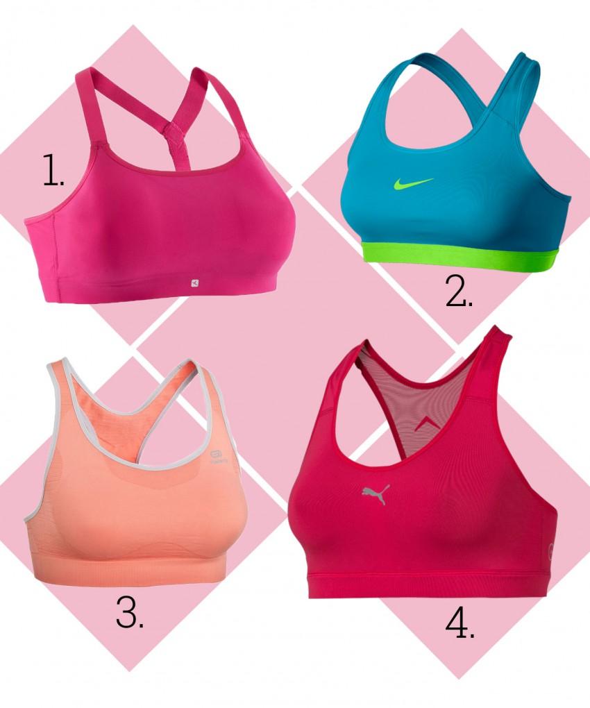 1. Domyos, 2. Nike, 3. Kalenji, 4. Puma