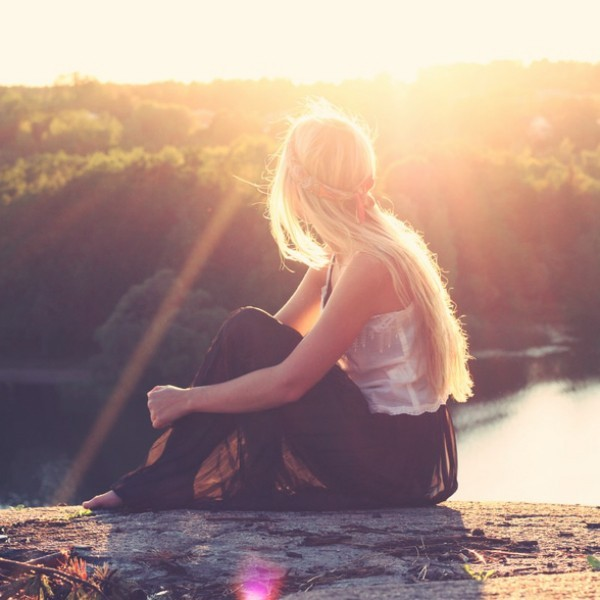 nő lány napfény