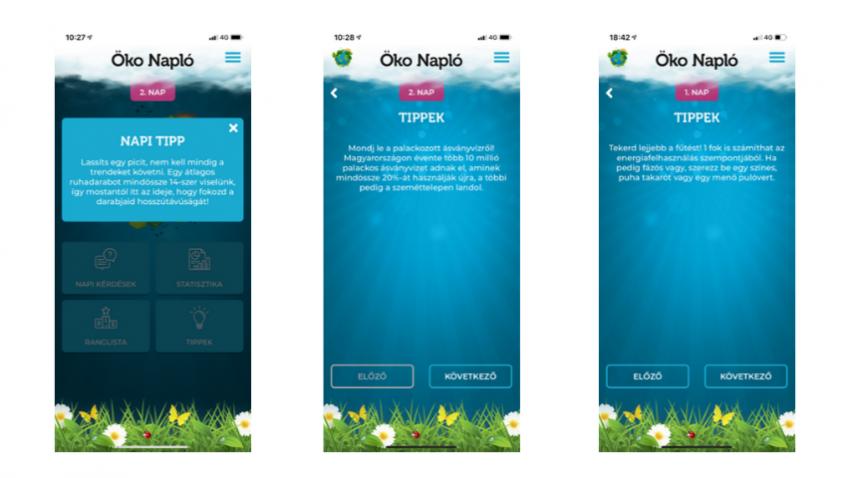 Ökonapló app
