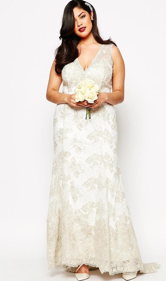 ddaaf245f6 ... inkább válasszatok olyan esküvői ruhát, ami tökéletes az alkatotokhoz.  Most olyan plus-size darabokat gyűjtöttünk össze, amelyek egyszerűen  álomszépek.