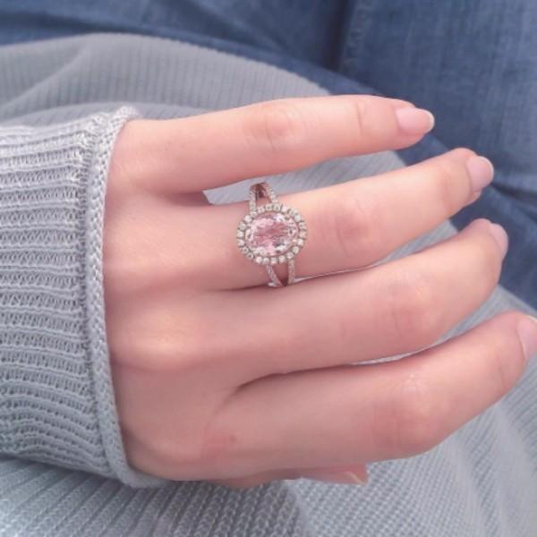 rózsaszín eljegyzési gyűrű