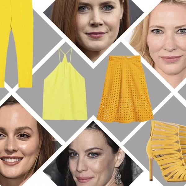 sárga divat